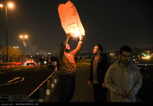 Iranian People Celebrate Persian Fire Festival (24)