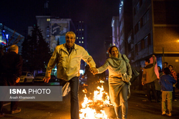 Iranian People Celebrate Persian Fire Festival (9)