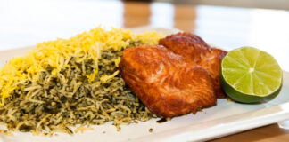 Dishes Served in Iran during Nowruz: Sabzi Polo Ba Mahi (3)