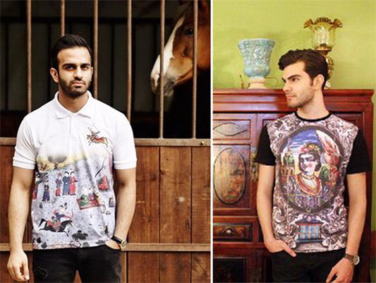 مصمم أزياء يصمم قصور ايرانية على ملابس رجالية