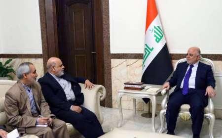 سفير ايران الجديد في العراق يبحث مع العبادي تعزيز العلاقات الثنائية