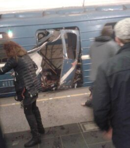 Blast hits St. Petersburg metro