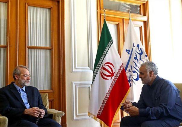 Top IRGC Commanders Meet Iran's Parliament Speaker (2)