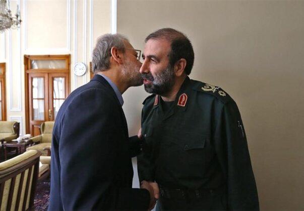 Top IRGC Commanders Meet Iran's Parliament Speaker (3)