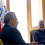 Top IRGC Commanders Meet Iran's Parliament Speaker (5)