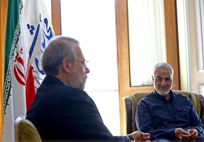 Top IRGC Commanders Meet Iran's Parliament Speaker (5)