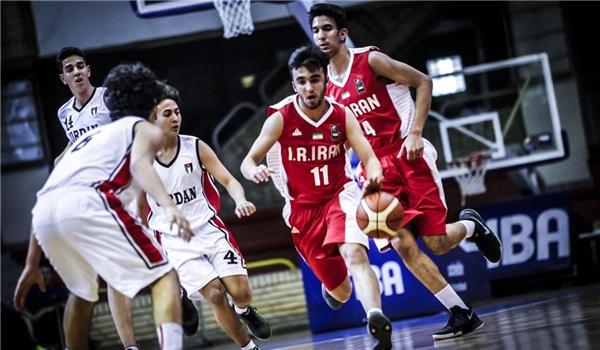 ناشئة ايران يهزم الاردن فی بطولة غرب آسيا لكرة السلة
