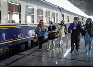 وصول قطار السياح الاجانب الى اصفهان