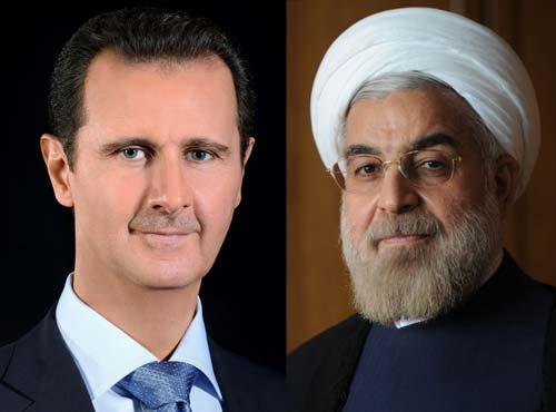 روحاني يهاتف الاسد ويدين الهجوم الصاروخي الامريكي على سوريا