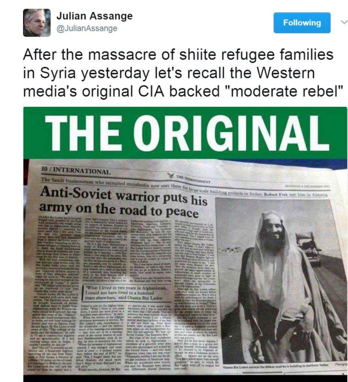 واکنش موسس ویکیلیکس به «قتل عام» شیعیان سوری