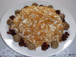 Dishes Served in Iran during Nowruz: Reshteh Polo