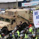 درگیری پلیس کره با معترضان به نصب سامانه موشکی آمریکا