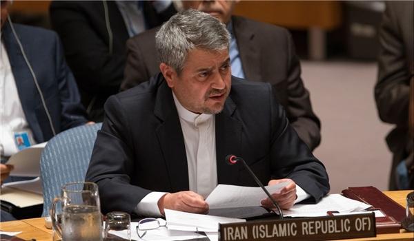 مندوب ايران في لامم المتحدة يدين الهجوم الامیركی على سوریا
