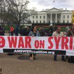 إحتجاجات في 35 مدينة أمريكية على الهجوم ضد سوريا