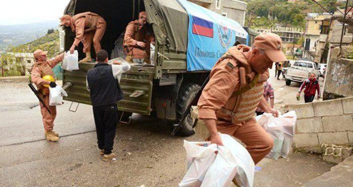 روسیه 5 تن کمک بشردوستانه به سوریه فرستاد