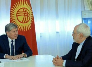 Iranian FM, Kyrgyz President Discuss Bilateral Ties