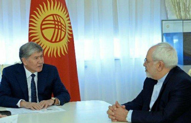 Iranian FM, Kyrgyz President Discuss Bilateral Ties