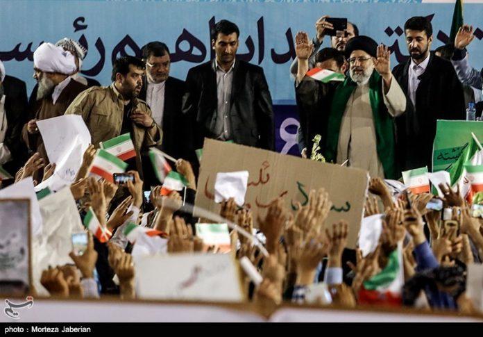 المرشح رئيسي يدعو الرئيس روحاني التخلي عن تخويف الناس