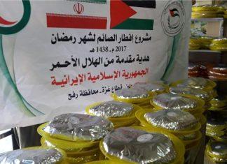 الهلال الاحمر الايراني يقدم وجبات للصائمين في غزة
