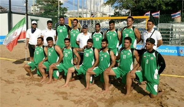 ايران تتأهل لبطولة العالم لكرة اليد الشاطئية