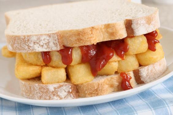 بریتانیا – «ساندویچ ارزان» (Chip butty)