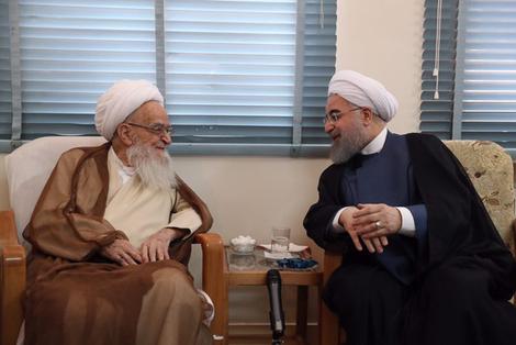 الرئيس روحانی يطلع مراجع الدین على خطط حكومته الاقتصادية 1