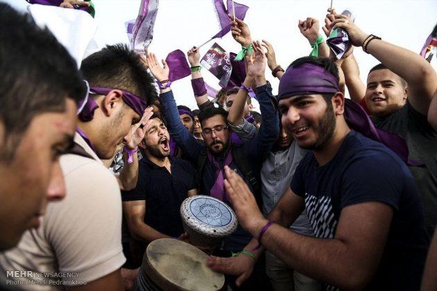 حسن روحاني في ضيافة أهالي مدينة أهواز 10