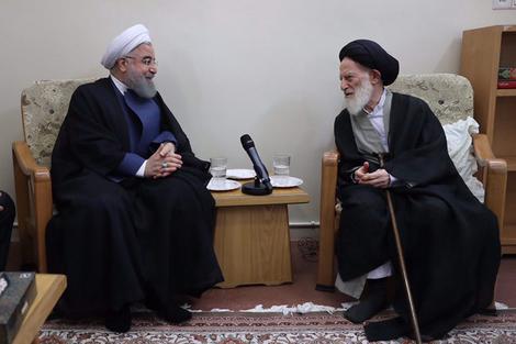 الرئيس روحانی يطلع مراجع الدین على خطط حكومته الاقتصادية 10