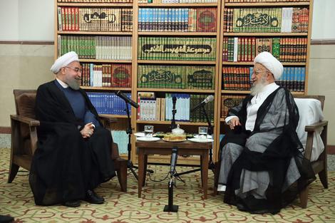 الرئيس روحانی يطلع مراجع الدین على خطط حكومته الاقتصادية 11