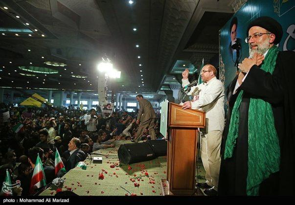 المرشح رئيسي بين أنصاره في طهران 12