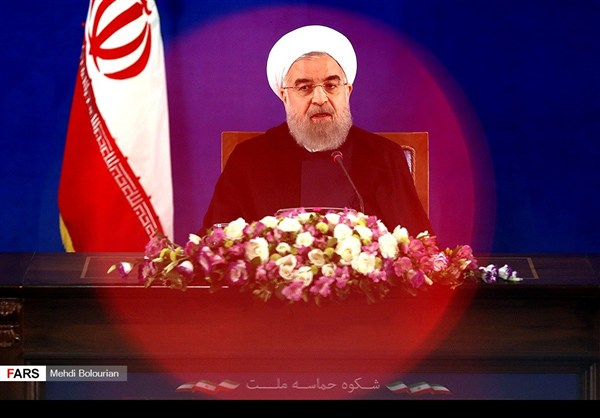 اول اطلالة صحفية للرئيس روحاني بعد فوزه بولاية ثانية12