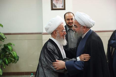 الرئيس روحانی يطلع مراجع الدین على خطط حكومته الاقتصادية 12