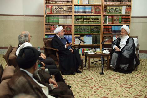 الرئيس روحانی يطلع مراجع الدین على خطط حكومته الاقتصادية 13