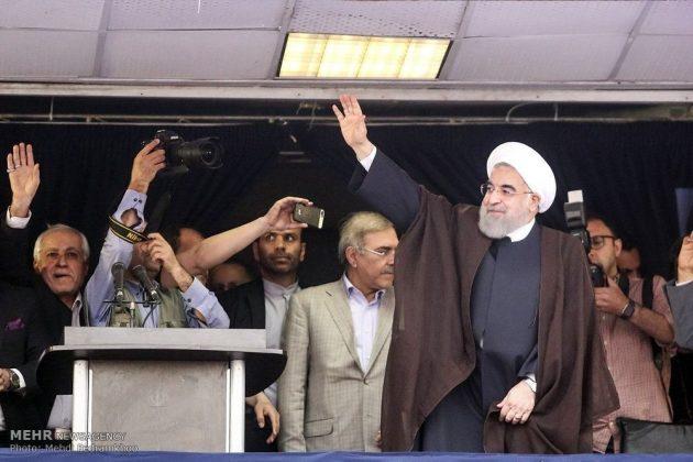 حسن روحاني في ضيافة أهالي مدينة أهواز 14