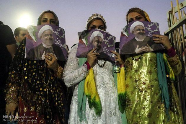 حسن روحاني في ضيافة أهالي مدينة أهواز 17