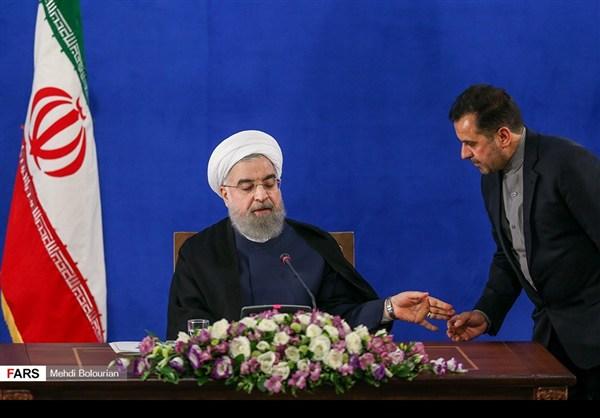 اول اطلالة صحفية للرئيس روحاني بعد فوزه بولاية ثانية17