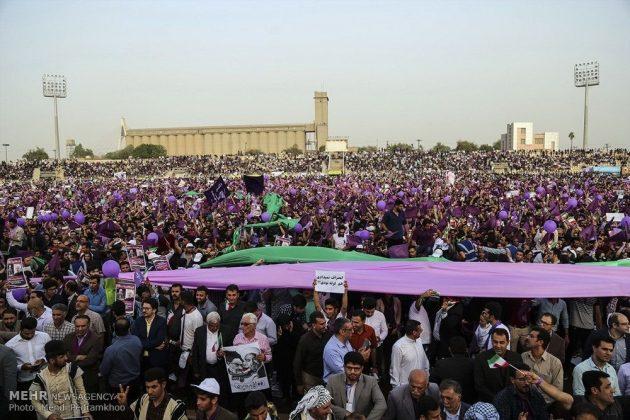 حسن روحاني في ضيافة أهالي مدينة أهواز 18