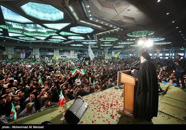 المرشح رئيسي بين أنصاره في طهران 2
