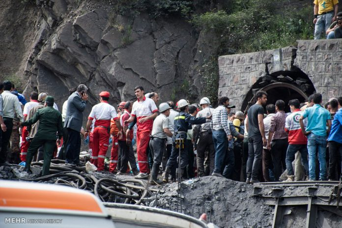 ارتفاع عدد ضحايا حادث المنجم في ايران الى 35 شخصا