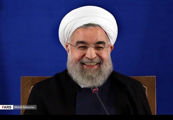 اول اطلالة صحفية للرئيس روحاني بعد فوزه بولاية ثانية3