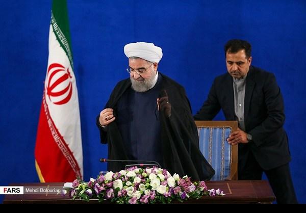 اول اطلالة صحفية للرئيس روحاني بعد فوزه بولاية ثانية30