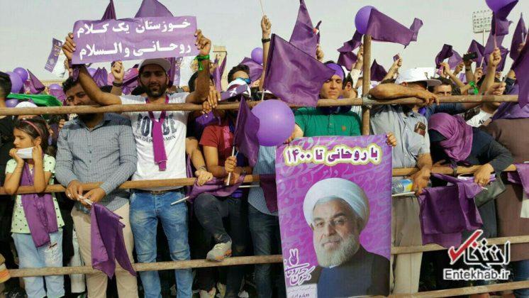 حسن روحاني في ضيافة أهالي مدينة أهواز 4