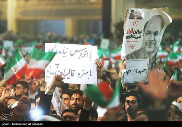 المرشح رئيسي بين أنصاره في طهران 4