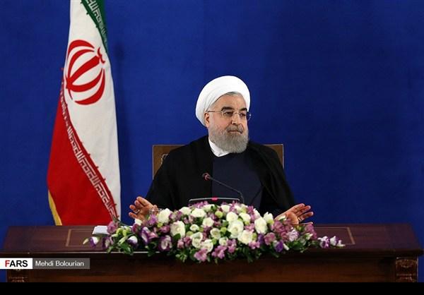 اول اطلالة صحفية للرئيس روحاني بعد فوزه بولاية ثانية