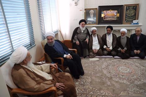 الرئيس روحانی يطلع مراجع الدین على خطط حكومته الاقتصادية 4