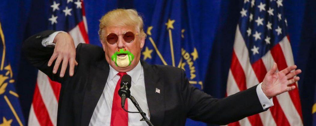 شباهت چانه و دهان ترامپ به قورباغه4