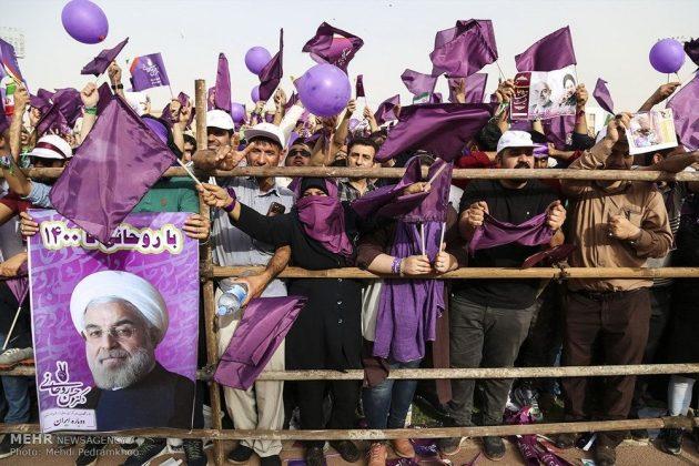 حسن روحاني في ضيافة أهالي مدينة أهواز 5
