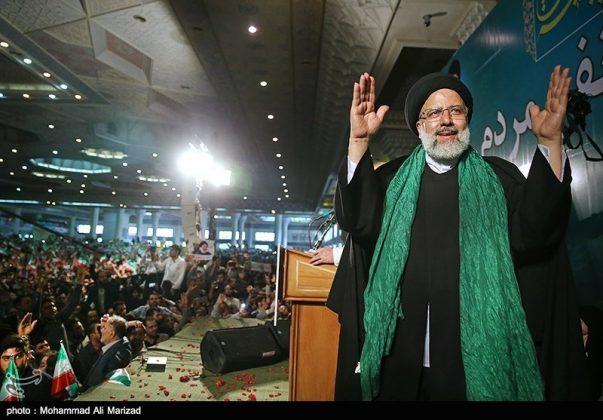 المرشح رئيسي بين أنصاره في طهران 5