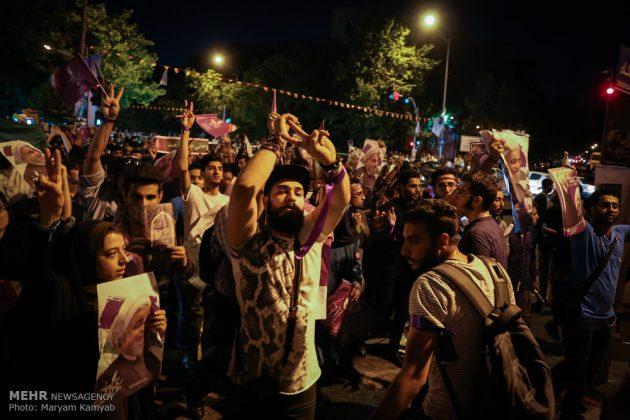 طهران .. الليلة الاخيرة للحملة الانتخابية الرئاسية5