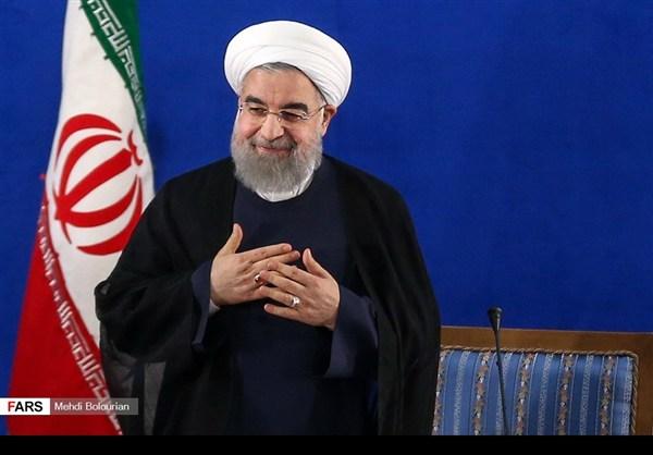 اول اطلالة صحفية للرئيس روحاني بعد فوزه بولاية ثانية5